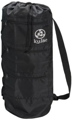 Kulae Yoga Mat Bag  Black Large ** More info could be found at the image url.