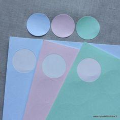 Stickers ronds rose pâle - par 24