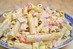 Salad with pasta and mayonnaise recipe - Heavenly Recipes Best Italian Recipes, Greek Recipes, Ham And Cheese Pasta, Pasta Recipes, Salad Recipes, Easy Cooking, Cooking Recipes, Cooking Food, Mayonnaise Recipe