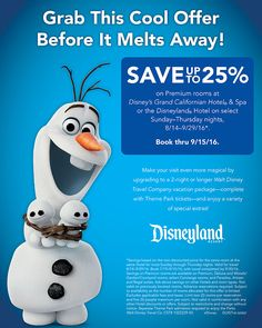 Current special offers for Disney vacations.  Also, inquire about Disney's…