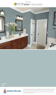 I found this color with ColorSnap® Visualizer for iPhone by Sherwin-Williams: Rain (SW 6219).