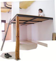 Ayuda para montar un altillo   Hacer bricolaje es facilisimo.com Loft Bed Plans, Bedroom, Furniture, Home Decor, Google, Tall Ceilings, Sleeping Loft, Tiny House Plans, Youth Rooms