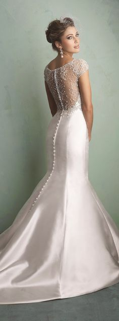 Allure Bridals Fall 2014 - Belle the Magazine .the wedding dress excitement is all in the back of the dress!
