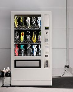 Hey a soccer ball and cleats vending machine awesome! Soccer Gear, Soccer Boots, Football Boots, Soccer Cleats, Soccer Players, Football Soccer, Softball, Soccer Stuff, Soccer Memes