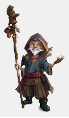Male Gnome Sorcerer with Staff - Pathfinder PFRPG DND D&D character concept portrait Fantasy Wizard, Fantasy Races, Fantasy Rpg, Dnd Wizard, Wizard Staff, Fantasy Character Design, Character Concept, Character Inspiration, Character Art