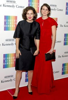 Rose Schlossberg and Tatiana Schlossberg, daughters of Ambassador Caroline Kennedy, arrive for the formal Artist's Dinner honoring the recipients of the 2014 Kennedy Center Honors.- Rose Schlossbergis a member of the Kennedy Center Board of Trustees, as appointed by President Obama.            ❤❤❤ ❤❤❤❤❤❤❤  http://en.wikipedia.org/wiki/Caroline_Kennedy   http://en.wikipedia.org/wiki/Edwin_Schlossberg