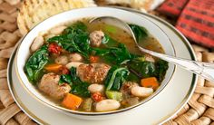Hearty Greens & Sausage Soup - In the Kitchen with Stefano Faita