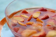 """Piarsolade"" Cold Soup of Peaches and Wine"