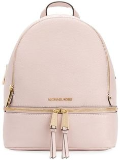 Michael Michael Kors Rhea backpackSoft pink leather Rhea backpack from Michael Michael Kors. Imported CompositionLeather Style ID: Soft pink leather Rhea backpack from Michael Michael Kors. Popular Handbags, Cute Handbags, Cheap Handbags, Cheap Bags, Luxury Handbags, Purses And Handbags, Cheap Purses, Handbags Online, Luxury Purses