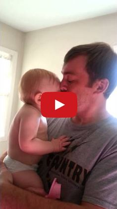 Baby Sees Daddy for The 1st Time Without a Beard!