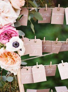 #escort-cards  photography: Judy Pak Photography - judypak.com  Read More: http://www.stylemepretty.com/2014/02/25/elegant-farm-wedding-in-the-berkshires/