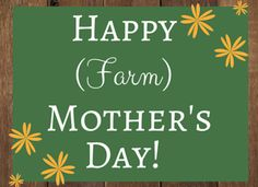Farm Mom - A dedication to a very special person on the farm.