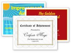 Certificate Magic - Free certificate generator
