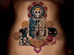 Anime tattoos, nerdy tattoos, tattoos for guys, naruto tattoo, cool tat Nerdy Tattoos, Anime Tattoos, Body Art Tattoos, Sleeve Tattoos, Tattoos For Guys, Tatoo One Piece, Pieces Tattoo, Temporary Tattoo Sleeves, Custom Temporary Tattoos