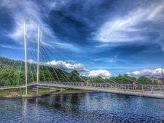 Silent Sunday: Ypsilon pedestrian bridge, Drammen in Norway