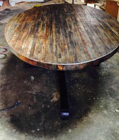 Round Butcher Block Kitchen Table Reclaimed wood round table with epoxypolyurethane finish www extra large custom butcher block strip oval wood dining table from reclaimed wood workwithnaturefo