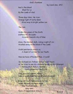 18 Best Rainbow Poems Images In 2019 Bible Verses Rainbow Poem Yarns