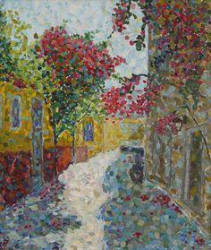 Irina iza Greek street