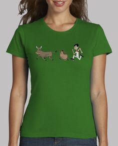 b7f9fa05d632b Camiseta sarcástica sobre un encierro en SAN FERMÍN (tercera ilustración)