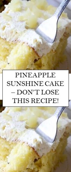 a light and fruity cake - perfect for summer or when you need a boost to your dinner times Delicious Cake Recipes, Yummy Cakes, Sweet Recipes, Yummy Food, Easy Desserts, Dessert Recipes, Sunshine Cake, My Best Recipe, Baking Recipes