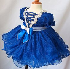 description: Beautiful National Pageant Dress Made for Lovely Little Princess. It is a one piece dress. Bodice made of stretch material and lace Beauty Pageant Dresses, Girls Pageant Dresses, One Piece Dress, Bridal Gifts, Little Princess, Dress Making, Bodice, Etsy, Lace