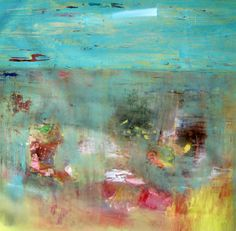 Wildflowers Large Abstract Original oil painting by BrookeWandall