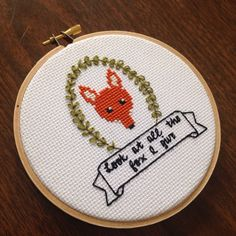 Look at all the fox I give - subversive cross stitch pattern