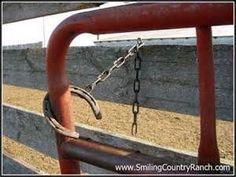 Uses for Old Horseshoes, to hold gates open Horseshoe Projects, Horseshoe Crafts, Horseshoe Art, Horse Shelter, Horse Ranch, Horse Crafts, Dream Barn, Horse Stalls, Barn Stalls