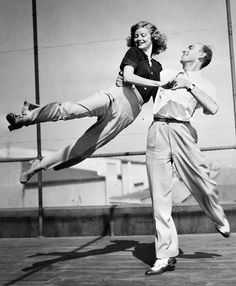 Lucille Ball photographed with RKO studio choreographer, Hermes Pan, 1930s