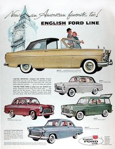 Ford English Line 1959 American Favorite Too - Mad Men Art: The 1891-1970 Vintage Advertisement Art Collection