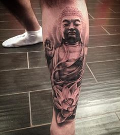 """10.4k Likes, 118 Comments - High Voltage Tattoo (@highvoltagetat) on Instagram: """"Amazing 1st session on this #Buddha tattoo by the amazing @mikeyctattoo!! #WIP"""""""
