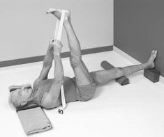 Yoga For Beginners Guide: Supta Padangusthasana Reclining Big Toe . Yoga Poses For Men, Yoga For Men, Pranayama, Asana, Reiki, Yoga Thoughts, Yoga Playlist, Ayurveda Yoga, Iyengar Yoga