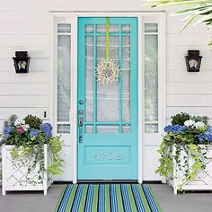 Colorful entrance from Coastal Living