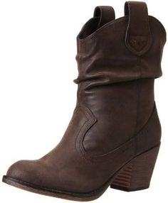 a3b0090faf64f Rocket Dog Women s Sheriff Vintage Worn PU Western Boot, Brown, 10 M US  Western inspired mid-calf boot with synthetic upper on faux stacked heel,  ...