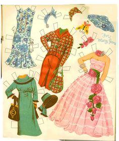 Mary Ann, Mary Lou, Mary Jane 1959 set by Hilda Miloche