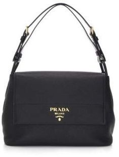 Prada  Prada Pattina Leather Handbag