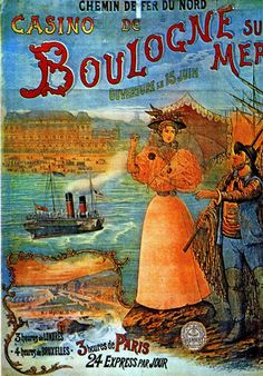 Boulogne sur Mer vintage travel poster France: I bought this while living there. Beach Posters, Cool Posters, Retro Posters, Vintage Travel Posters, Vintage Postcards, Poster Vintage, Vintage Advertisements, Vintage Ads, Travel Ads