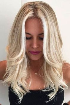 Details about European Real Human Hair Wigs Blonde Wavy Lace Front Wigs Full Lace Wigs - Hair & Beauty that I love - Hair Color Blonde Hair Shades, Icy Blonde, Platinum Blonde Highlights, Blonde Roots, Balayage Highlights, Bright Blonde Hair, Blonde Color, Color Highlights, Full Head Highlights Blonde