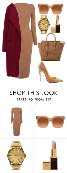"""Untitled #322"" by amoney-1 ❤ liked on Polyvore featuring Karen Millen, Christian Louboutin, CÉLINE, Nixon, Tom Ford and Zara"