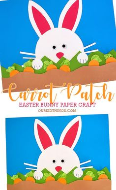 Everybunny knows a bunny loves carrots and they'll love our Easter Bunny Carrot Patch Craft! With free Bunny Template for even easier Easter crafting! Easter Arts And Crafts, Bunny Crafts, Easter Crafts For Kids, Toddler Crafts, Preschool Crafts, Kid Crafts, Easter Ideas, Easter Activities, Spring Activities