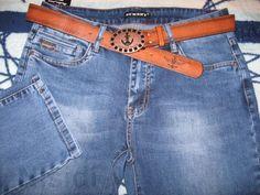 Ровные женские джинсы New Sky с ремнем Jeans women dnepr