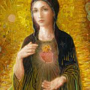 Immaculate Heart of Mary Canvas Print / Canvas Art by Smith Catholic Art Canvas Art, Canvas Prints, Psalm 23, Catholic Art, Got Print, Diy Christmas Gifts, Canvas Material, Fine Art America, Blessed