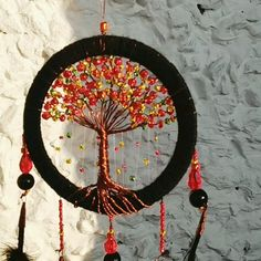 Your place to buy and sell all things handmade Dyi Dream Catcher, Dream Catcher Painting, Dream Catcher Tutorial, Black Dream Catcher, Clay Pot Crafts, Shell Crafts, Wire Crafts, Bead Crafts, Old Wine Bottles