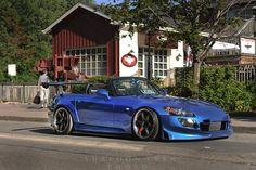 Crazy modded Honda S2000 (S2K) on Volk TE37SLs with lots of Voltex and Spoon Mods