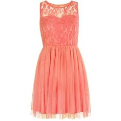 how to wear peach lace dresses   shop clothing dresses day dresses peach floral lace skater dress $ 50 ...