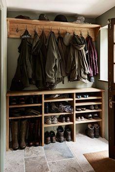 Mudroom Laundry Room, Laundry Room Design, Mud Room In Garage, Mud Room Lockers, Coat And Shoe Storage, Shoe Storage Room Ideas, Shoe Storage Utility Room, Shoe Storage Mudroom, Boot Room Storage