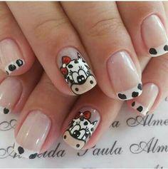 Animal Nail Designs, Nail Art Designs, Country Nails, Cow Nails, Short Nails Art, Pretty Nail Designs, Cute Nail Art, Birthday Nails, Nails On Fleek