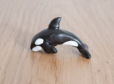 Orca whale animal totem  Polymer clay animal by LifedanceCreations, €21.84