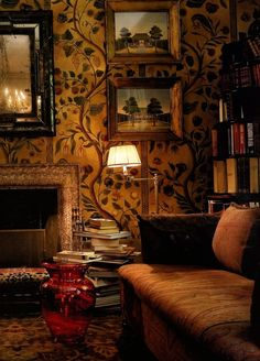I can imagine myself here.. immersed in a book... sipping whiskey.
