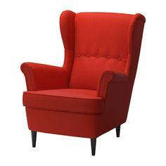 Ikea STRANDMON Wing chair, Skiftebo orange